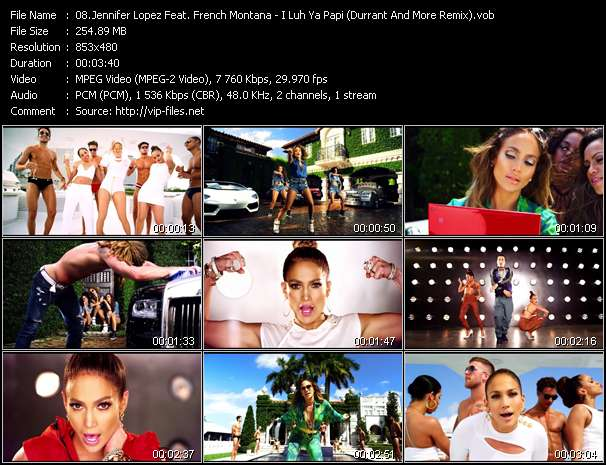 Jennifer Lopez Feat. French Montana - I Luh Ya Papi (Durrant And More Remix)