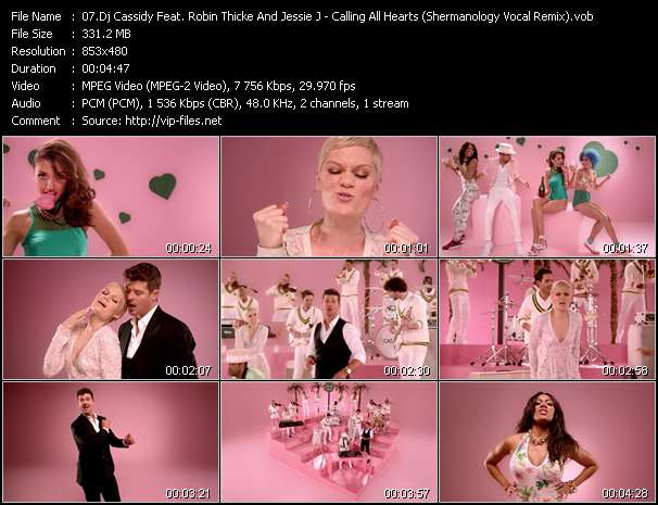 Dj Cassidy Feat. Robin Thicke And Jessie J - Calling All Hearts (Shermanology Vocal Remix)