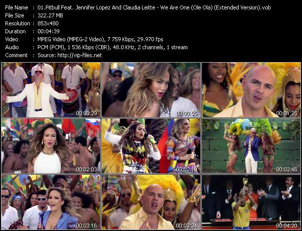 Pitbull Feat. Jennifer Lopez And Claudia Leitte - We Are One (Ole Ola) (Extended Version)