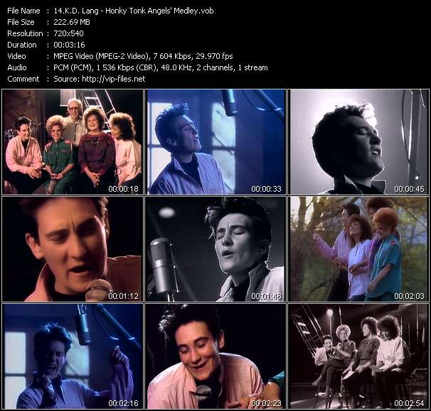 K.D. Lang - Honky Tonk Angels' Medley