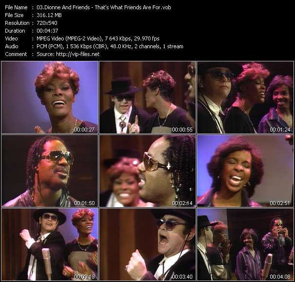 Dionne And Friends (Dionne Warwick, Elton John, Gladys Knight And Stevie Wonder) - That's What Friends Are For