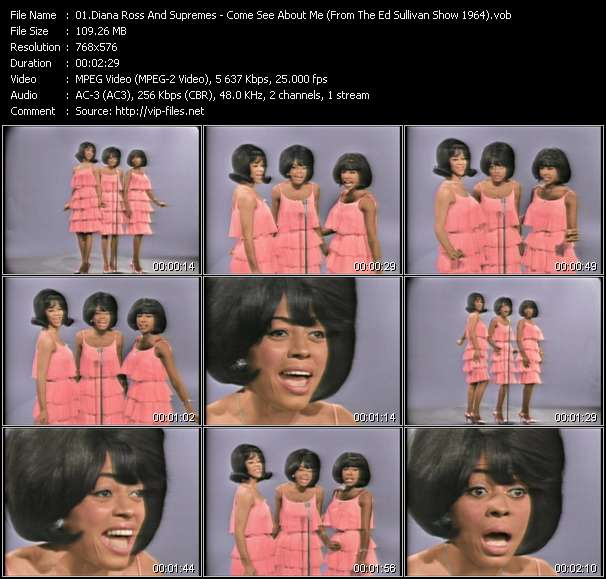 Diana Ross And Supremes - Come See About Me (From The Ed Sullivan Show 1964)