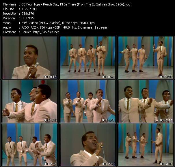 Four Tops - Reach Out, I'll Be There (From The Ed Sullivan Show 1966)