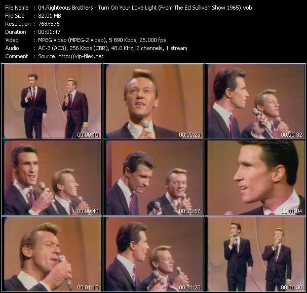 Righteous Brothers - Turn On Your Love Light (From The Ed Sullivan Show 1965)