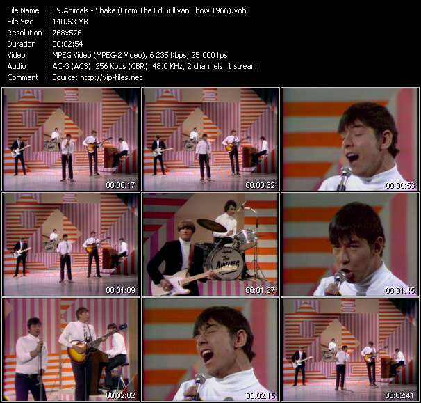 Animals - Shake (From The Ed Sullivan Show 1966)