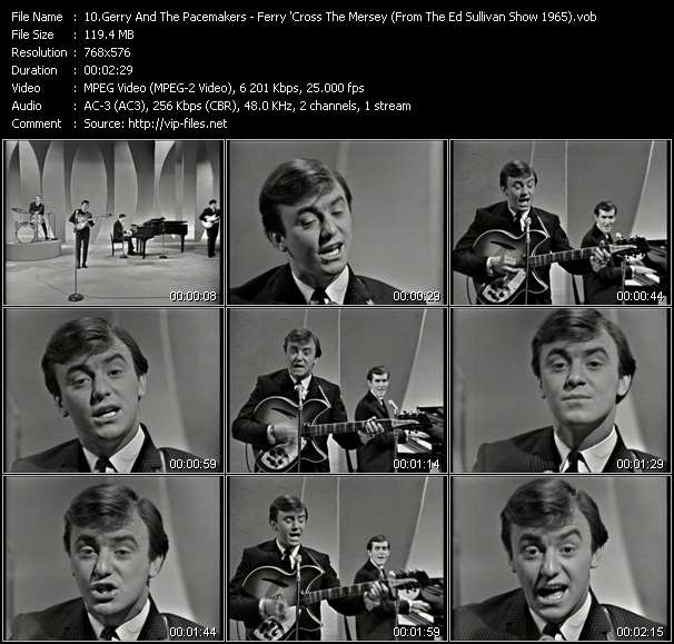 Gerry And The Pacemakers - Ferry 'Cross The Mersey (From The Ed Sullivan Show 1965)