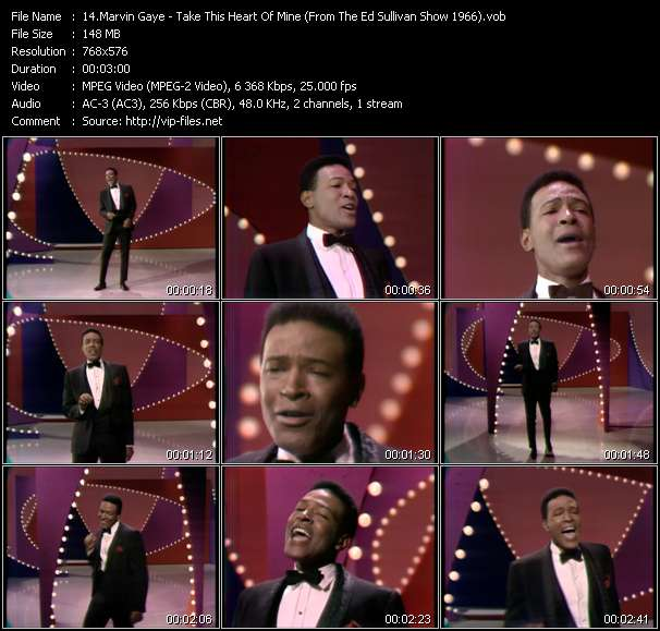 Marvin Gaye - Take This Heart Of Mine (From The Ed Sullivan Show 1966)
