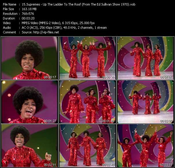 Supremes - Up The Ladder To The Roof (From The Ed Sullivan Show 1970)