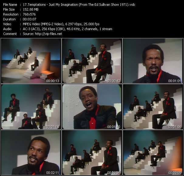 Temptations - Just My Imagination (Running Away With Me) (From The Ed Sullivan Show 1971)