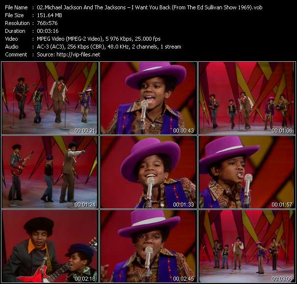 Michael Jackson And The Jacksons (Jackson 5) - I Want You Back (From The Ed Sullivan Show 1969)