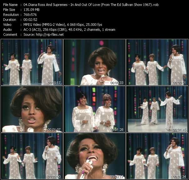 Diana Ross And Supremes - In And Out Of Love (From The Ed Sullivan Show 1967)
