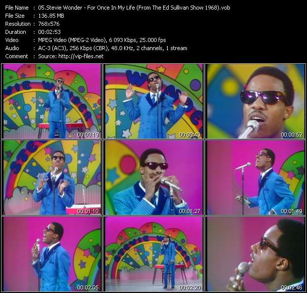 Stevie Wonder - For Once In My Life (From The Ed Sullivan Show 1968)