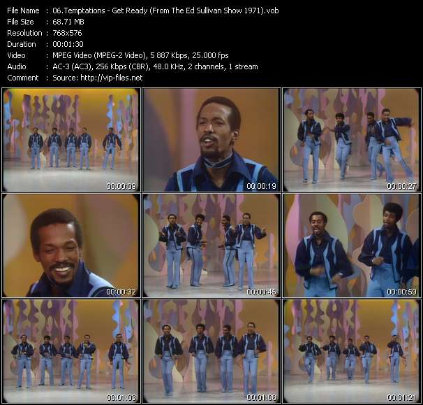 Temptations - Get Ready (From The Ed Sullivan Show 1971)