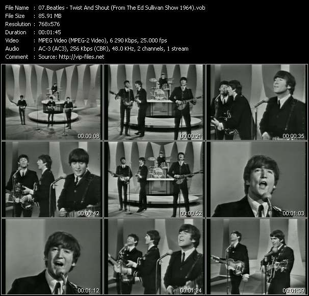 Beatles - Twist And Shout (From The Ed Sullivan Show 1964)