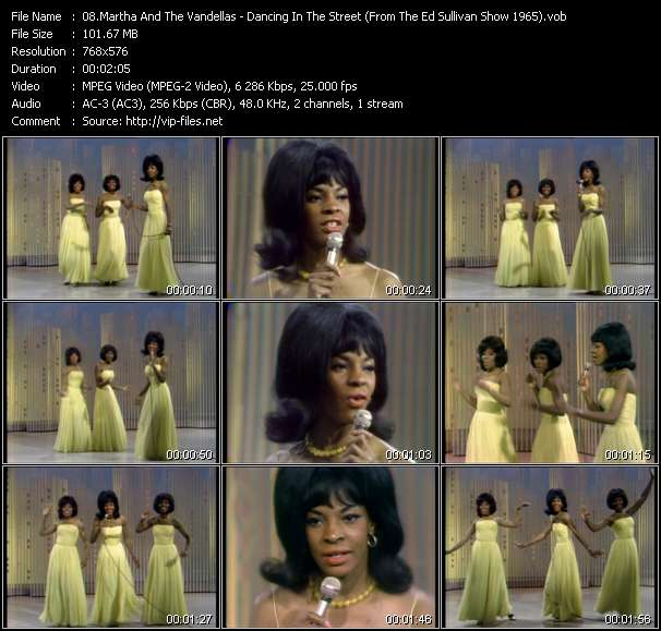 Martha And The Vandellas - Dancing In The Street (From The Ed Sullivan Show 1965)