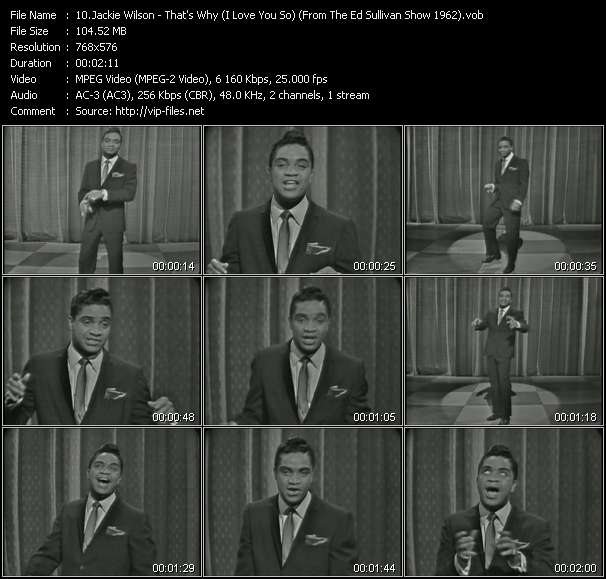 Jackie Wilson - That's Why (I Love You So) (From The Ed Sullivan Show 1962)