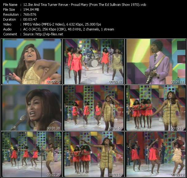 Ike And Tina Turner Revue - Proud Mary (From The Ed Sullivan Show 1970)
