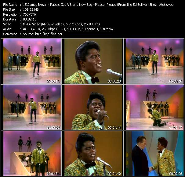 James Brown - Papa's Got A Brand New Bag - Please, Please, Please (From The Ed Sullivan Show 1966)