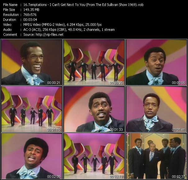Temptations - I Can't Get Next To You (From The Ed Sullivan Show 1969)
