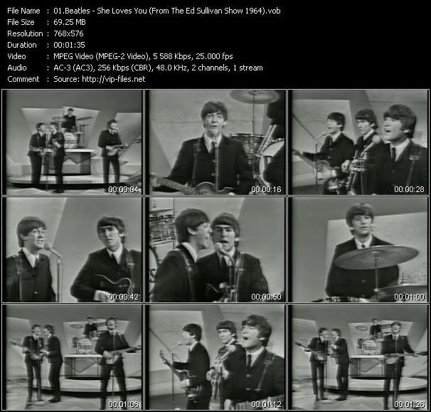 Beatles - She Loves You (From The Ed Sullivan Show 1964)