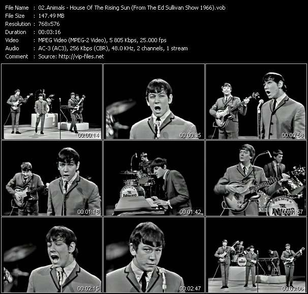 Animals - House Of The Rising Sun (From The Ed Sullivan Show 1966)