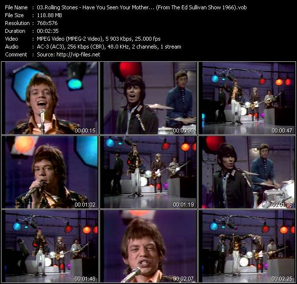 Rolling Stones - Have You Seen Your Mother, Baby, Standing In The Shadow? (From The Ed Sullivan Show 1966)