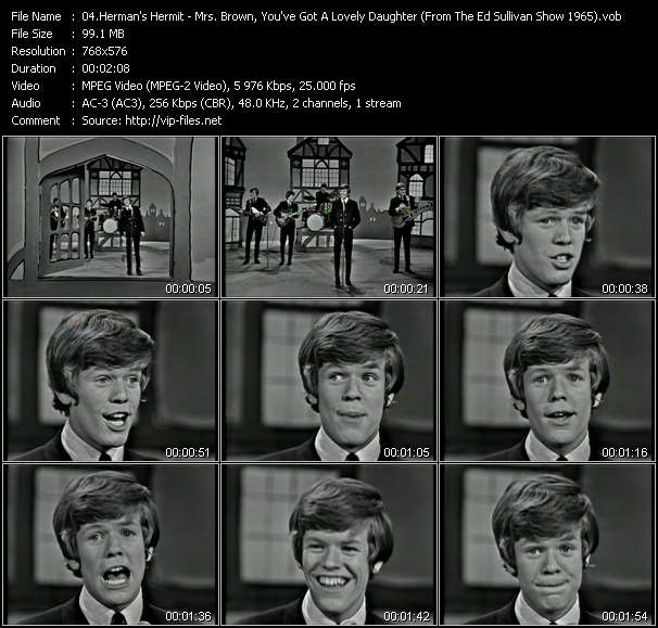 Herman's Hermits - Mrs. Brown, You've Got A Lovely Daughter (From The Ed Sullivan Show 1965)