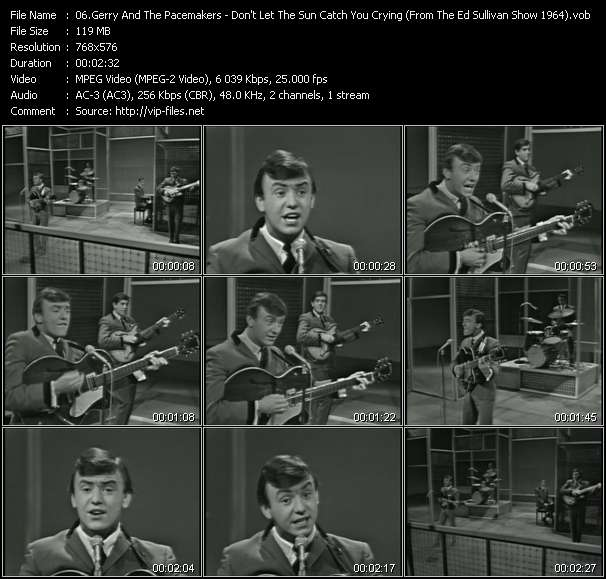 Gerry And The Pacemakers - Don't Let The Sun Catch You Crying (From The Ed Sullivan Show 1964)