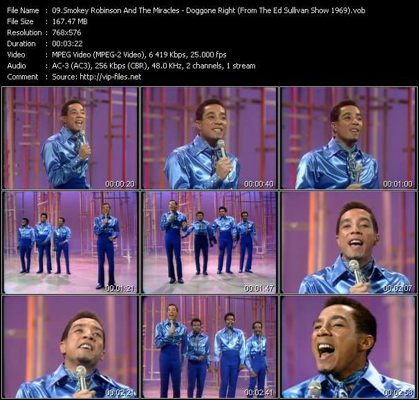 Smokey Robinson And The Miracles - Doggone Right (From The Ed Sullivan Show 1969)