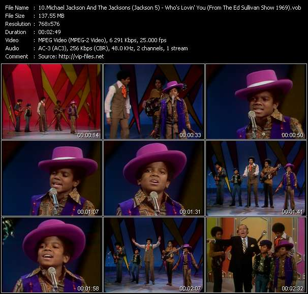 Michael Jackson And The Jacksons (Jackson 5) - Who's Lovin' You (From The Ed Sullivan Show 1969)