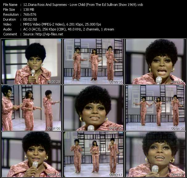 Diana Ross And Supremes - Love Child (From The Ed Sullivan Show 1969)