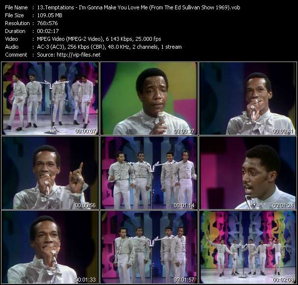 Temptations - I'm Gonna Make You Love Me (From The Ed Sullivan Show 1969)