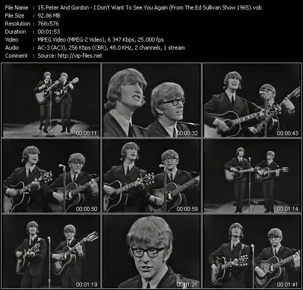 Peter And Gordon - I Don't Want To See You Again (From The Ed Sullivan Show 1965)