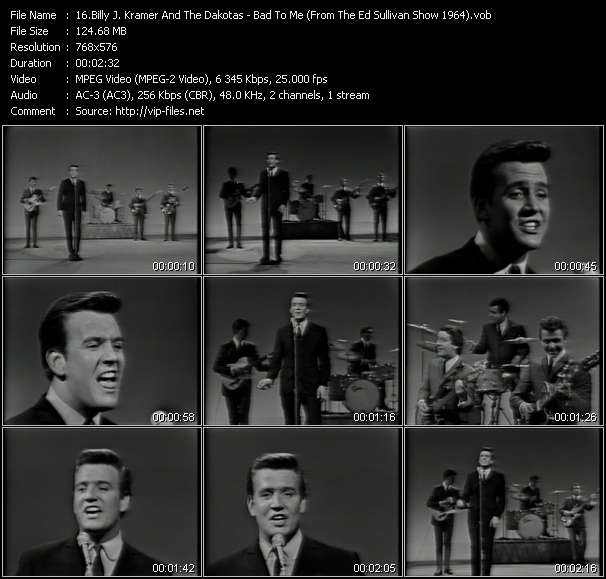 Billy J. Kramer And The Dakotas - Bad To Me (From The Ed Sullivan Show 1964)