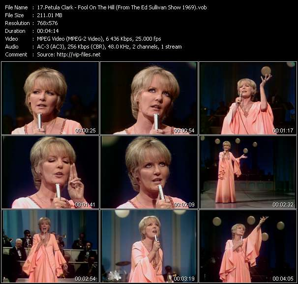Petula Clark - Fool On The Hill (From The Ed Sullivan Show 1969)