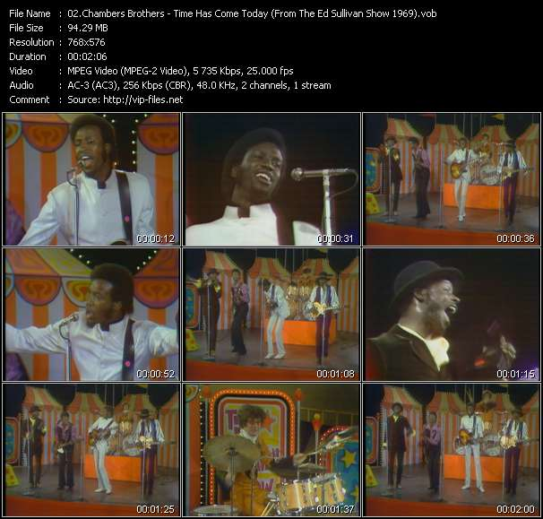Chambers Brothers - Time Has Come Today (From The Ed Sullivan Show 1969)