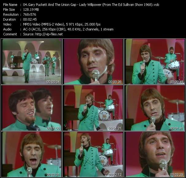 Gary Puckett And The Union Gap - Lady Willpower (From The Ed Sullivan Show 1968)