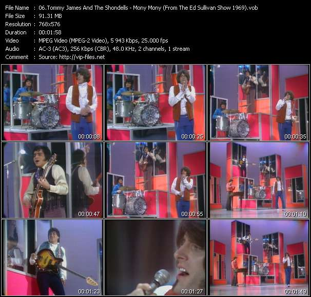 Tommy James And The Shondells - Mony Mony (From The Ed Sullivan Show 1969)
