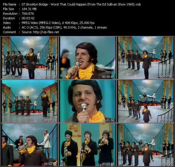 Brooklyn Bridge - Worst That Could Happen (From The Ed Sullivan Show 1968)