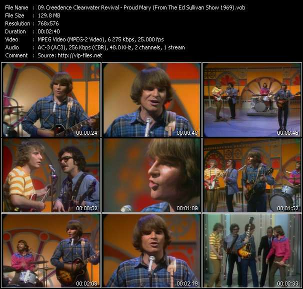 Creedence Clearwater Revival - Proud Mary (From The Ed Sullivan Show 1969)