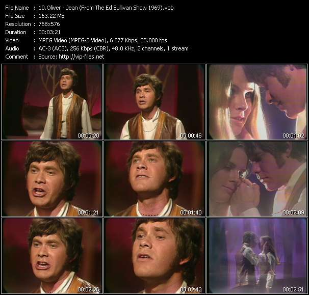 Oliver - Jean (From The Ed Sullivan Show 1969)
