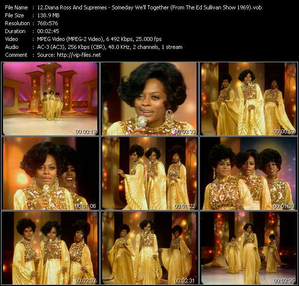 Diana Ross And Supremes - Someday We'll Together (From The Ed Sullivan Show 1969)