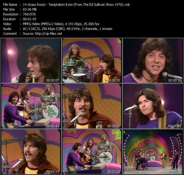 Grass Roots - Temptation Eyes (From The Ed Sullivan Show 1970)