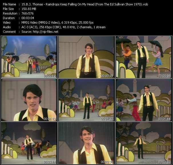 B.J. Thomas - Raindrops Keep Falling On My Head (From The Ed Sullivan Show 1970)