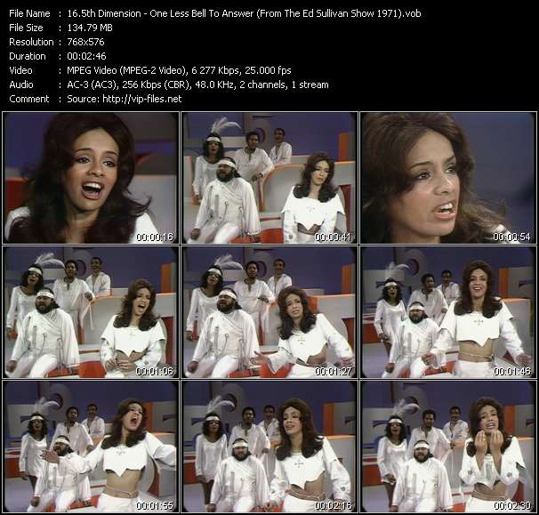 5th Dimension - One Less Bell To Answer (From The Ed Sullivan Show 1971)