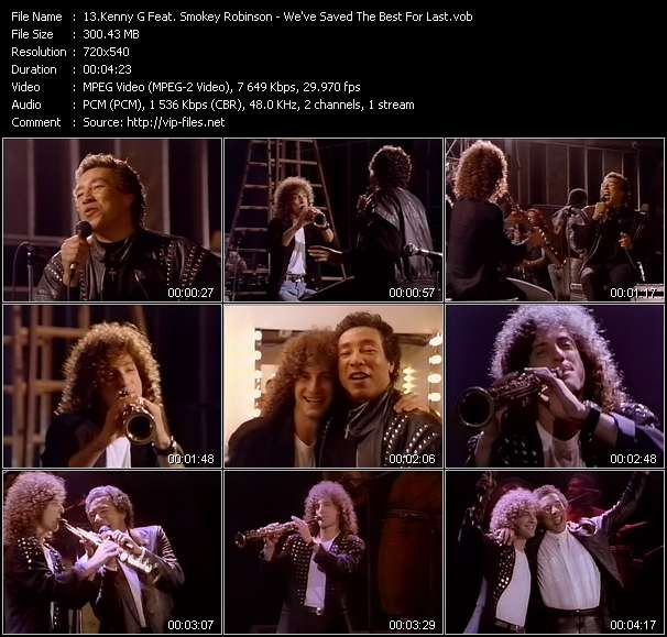 Kenny G. Feat. Smokey Robinson - We've Saved The Best For Last
