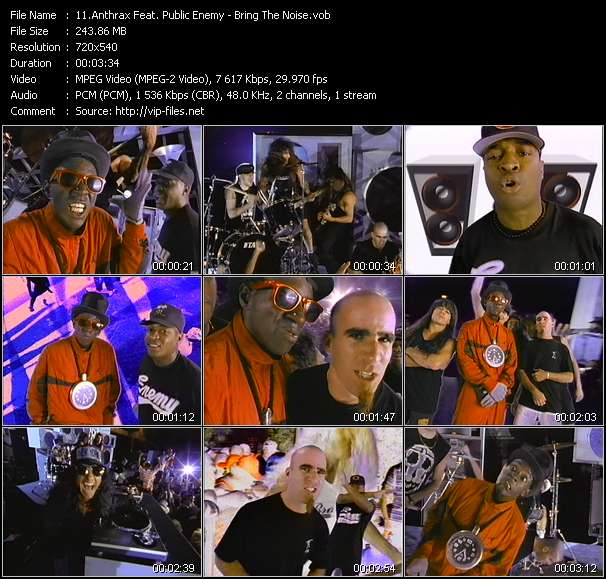 Anthrax Feat. Public Enemy - Bring The Noise