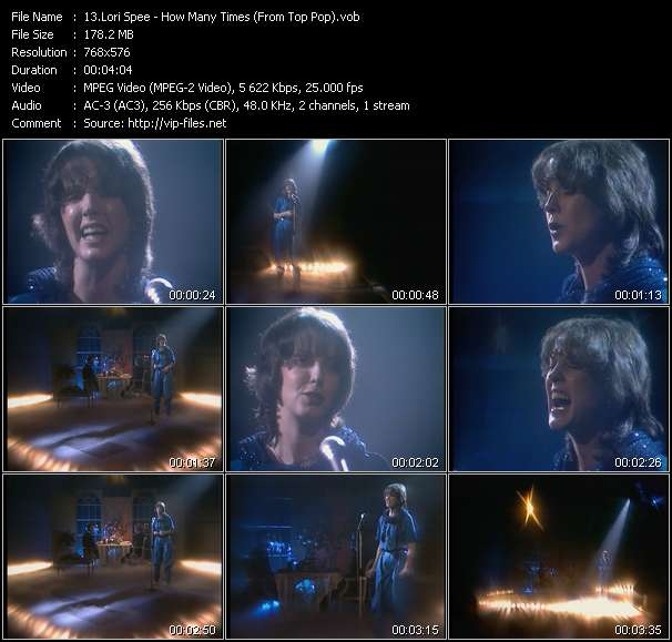 Lori Spee - How Many Times (From Top Pop)