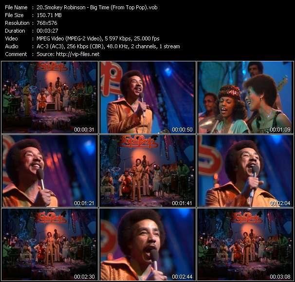 Smokey Robinson - Big Time (From Top Pop)