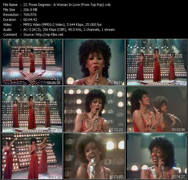 Three Degrees - A Woman In Love (From Top Pop)